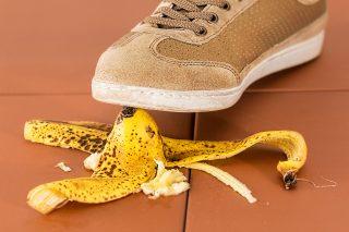 bananenschil uitglijder