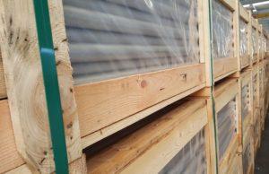 houten krat voor RVS buis