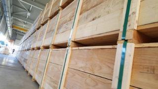 houten kist verpakking