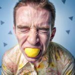 zuur, bijten citroen